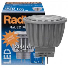 LED Lampe, RaLED, MR11,GU4 / 3,7W, 184 lm, 2700K, Radium