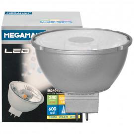 LED Lampe, Reflektor, MR16, Flood 36°, GU5,3 / 4,5W, 240 lm, 4000K, Megaman