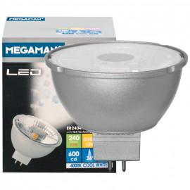 LED Lampe, Reflektor, MR16, Flood 36°, GU5,3 / 4,5W, 240 lm, 2800K, Megaman