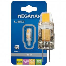 LED Lampe, Stift Sockel, G4 / 1,2W, 100 lm, 2800K, Megaman