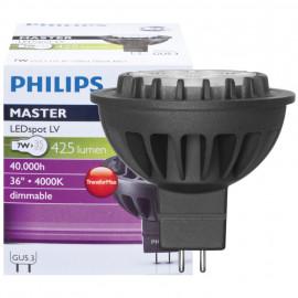 LED Lampe, Reflektor, MASTER LEDSpot, GU5,3 / 7W, 425 lm, 4000K, Philips