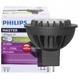 LED Lampe, Reflektor, MASTER LEDSpot, GU5,3 / 8W, 635 lm, 2700K, Philips