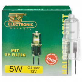 NV Halogenlampe, Niederdruck, G4 / 10W, 96 lm, TS Electronic