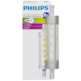 LED Lampe, Stab, R7s / 6,5W, 806 lm, 3000K, Philips