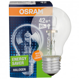 HV Halogenlampe, HALOGEN PRO CLASSIC A, E27 / 30W, 405 lm Osram