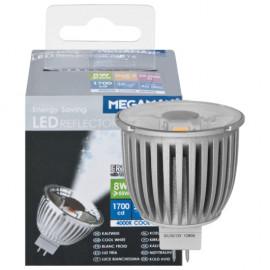 LED Lampe, Reflektor, MR16, GU5,3 / 8W, 1700cd, 4000K, Megaman