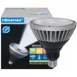 LED Lampe, Reflektor, E27 / 16W, IP44, 950 lm, 6000cd, Megaman
