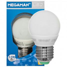 LED Lampe, Tropfen, LED CLASSIC, E27 / 3,5W, opal, 250 lm, Megaman