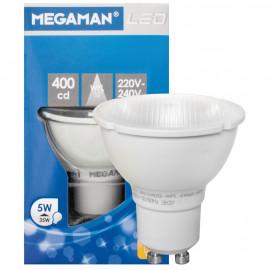 LED Lampe, Reflektor, GU10 / 5W, 300 lm, 400cd, 2800K, Megaman