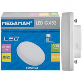 LED Lampe, Reflektor, GX53 / 5W, 300 lm, dimmbar, 2800K, Megaman