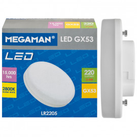 LED Lampe, Reflektor, GX53 / 3,5W, 220 lm, 2800K, Megaman
