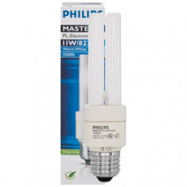 Lampe, Energiespar, MASTER PL-Electronic, E27 / 8W, 400 lm, LF 827, Philips