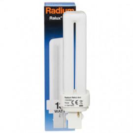 Lampe, Energiespar, RALUX DUO, G24d-1 / 10W, 600 lm, LF 827, Radium