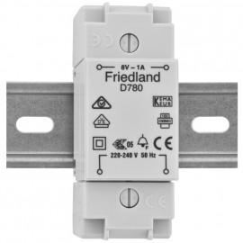 AP Klingeltrafo, D780, auch für Reiheneinbau, primär 230V, sekundär 8V/1A