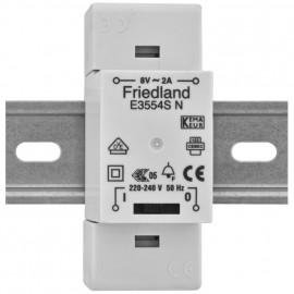 AP Klingeltrafo, E3554S, auch für Reiheneinbau, mit Schalter, primär 230V, sekundär 8V / 2A