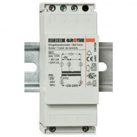 Klingeltrafo für Reiheneinbau, GT3139, primär 230-240V, sekundär 8-12V / 1-1,5A
