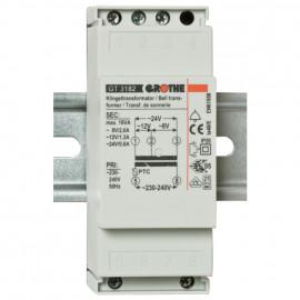 Klingeltrafo für Reiheneinbau, GT3182, primär 230-240V, sekundär 8-12-24V / 2-1,3-0,6A