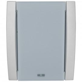Gong, CROMA 100, 18 Melodien und Alarmton, 8 - 12V oder für 4 Baby Batterien, Glas / silber