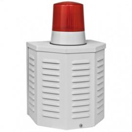 Dummy Sirenengehäuse, Aluminium Gehäuse mit Blitzlichtatrappe