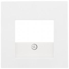 Zentralplatte für 3 fach TAE  Steckdose, SERIE S.1 polarweiß glänzend