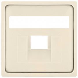 Schaltereinsatz Zentralplatte für 1 fach UAE Steckdose, KLEIN® K55 weiß