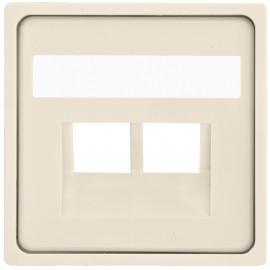 Zentralplatte für 2 fach UAE Steckdose, KLEIN® K55 weiß