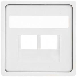 Zentralplatte für 2 fach UAE Steckdose, KLEIN® K55 reinweiß