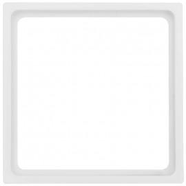 Adapterrahmen für Fremdgeräte mit 50 x 50 mm Zentralplatte für Merten® M1 reinweiß