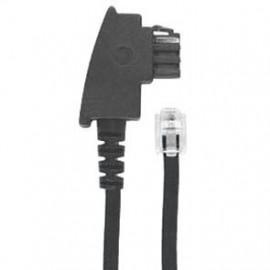 Telefon Anschlussschnur, 6 m, schwarz