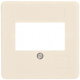 Schaltereinsatz Zentralplatte für 3 fach TAE Steckdose, 50 x 50 mm, weiß
