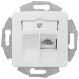 Telefonsteckdose, mit Zentralplatte 50 x 50 mm, reinweiß UAE 1 x8 (8)