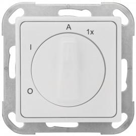 Außenlichtschalter, Unterputz 55 x 55 mm mit Adapterrahmen, reinweiß