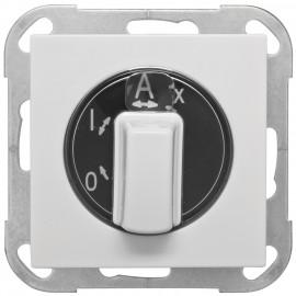 Lichtschalter Außen, Zentralplatte System AS, alpinweiß, Arnold