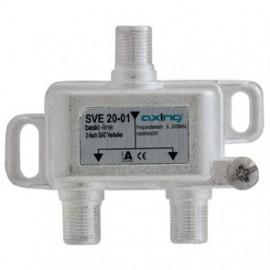 BK / SAT Verteiler 2 fach für Breitband Anlagen und SAT Anlagen Axing