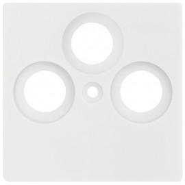 Zentralplatte KLEIN® K55 reinweiß für TV / Radio / SAT Antennensteckdose