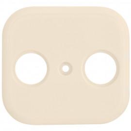 Schaltereinsatz Zentralplatte für TV / Radio Antennensteckdose KLEIN LX® weiß