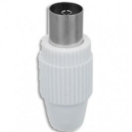 Antennenkupplung Kunststoff weiß schraubbar