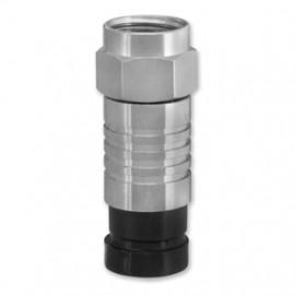 Kompressions F Stecker für Kabel Ø 7 mm wasserdicht