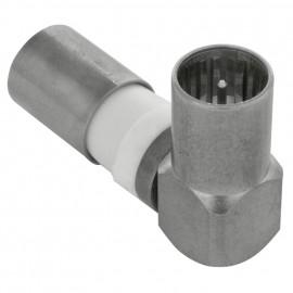 Winkel Kompressions Stecker, Klasse A nach EN50083-2/A1 - F-QUICKFIX 100-51 Axing