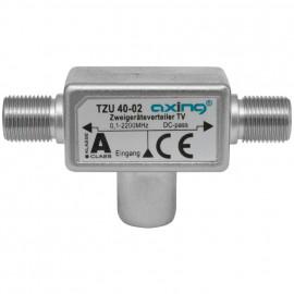 BK / SAT Verteiler TZU 40-2, 3 fach, F-Stecker / 2 F Buchsen Axing