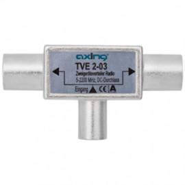 BK / SAT Verteiler 3 fach, 1 Stecker / 2 Kupplungen für Breitband Anlagen/ SAT Anlagen
