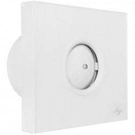 Wand -/ Deckeneinbaulüfter, mit Nachlaufschalter und Hygrostat, Blende weiß