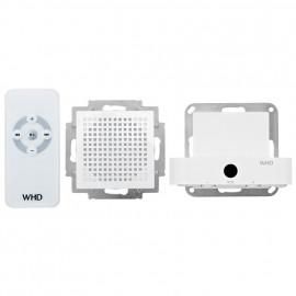 Unterputz Musicport, MP55, purweiß glänzend mit Lautsprecher 1,2W / Fernbedienung WHD