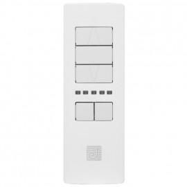 Funk Handsender, 868 Mhz, FUROHRE SERVIZIO, für Funk Rohrmotoren, 5 Kanal, weiß