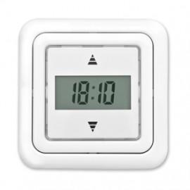 Jalousie Zeitschaltuhr, Tagesprogramm Unterputz Zeitschaltuhr, reinweiß