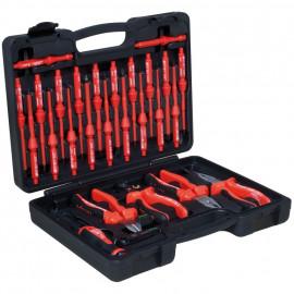 VDE Werkzeug-Satz, 28-teilig, in Kunststoff - Koffer