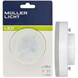 LED Lampe, Reflektor, GX53 / 6W, 4000K, 450 lm, 4000 K, Müller Licht