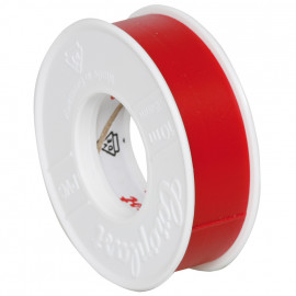 Coroplast Box PVC Isolierband Breite 15 mm, Länge 10 m Farbe rot Inhalt 20 Stück