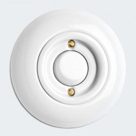 Tastereinsatz Kombi, Unterputz, ohne Symbol, 10A / 250V, Porzellan weiß, THPG