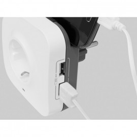 USB Ladeadapter mit Schutzkontaktstecker signalweiß - Legrand